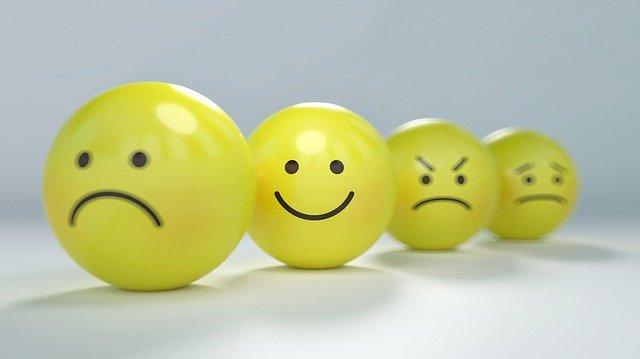 Les états psychologique en emojis.